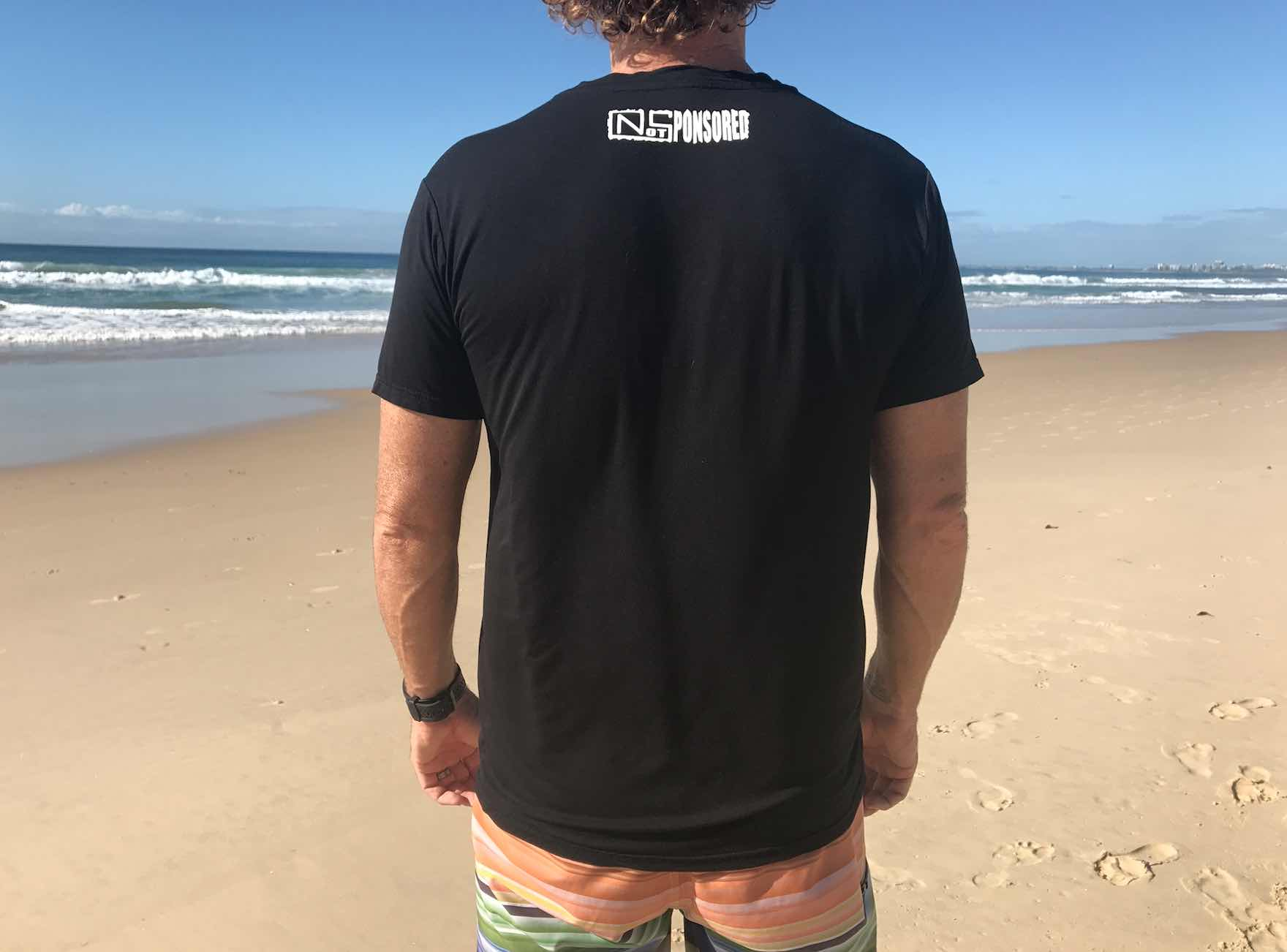 Mens Traveller Black Bamboo Tee Shirt