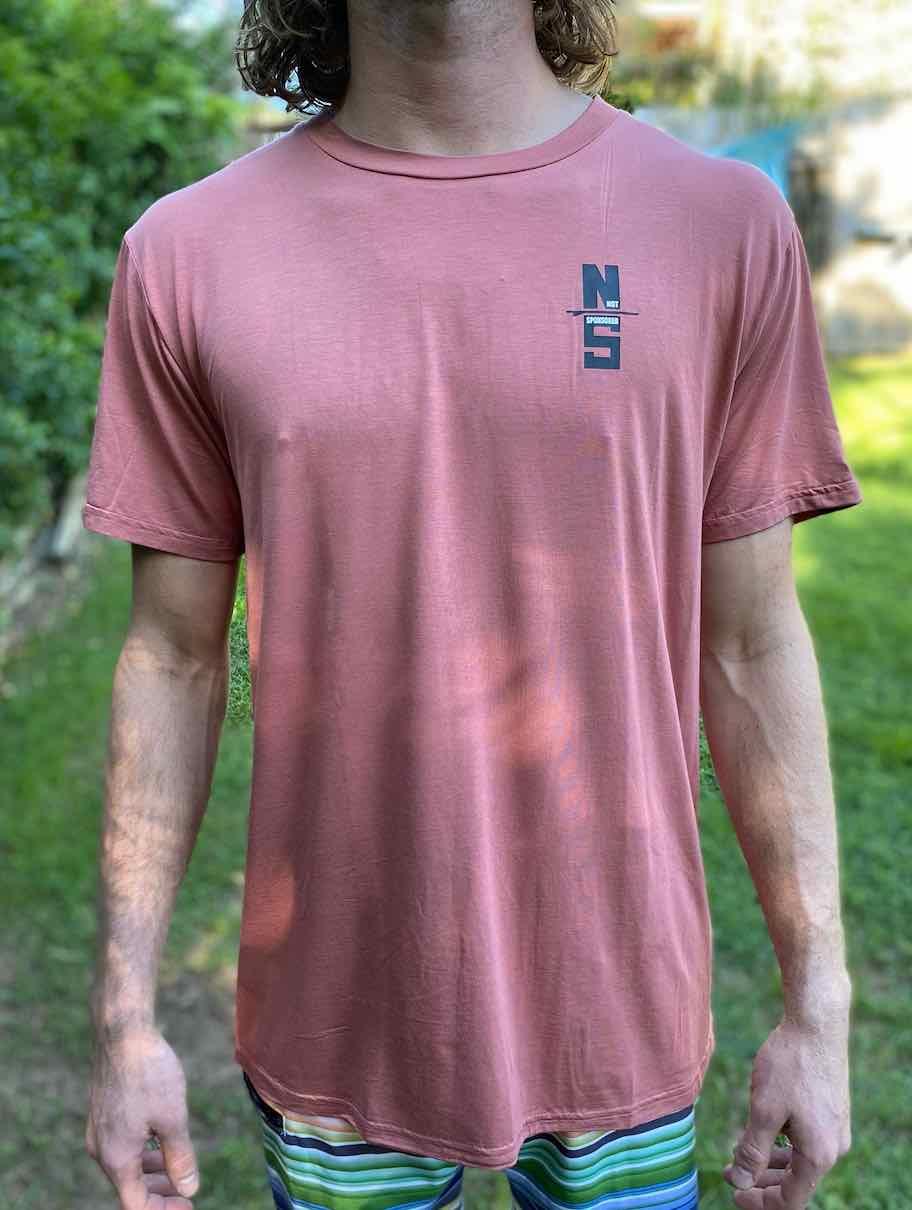 Mens Get Board Coral Bamboo T Shirt