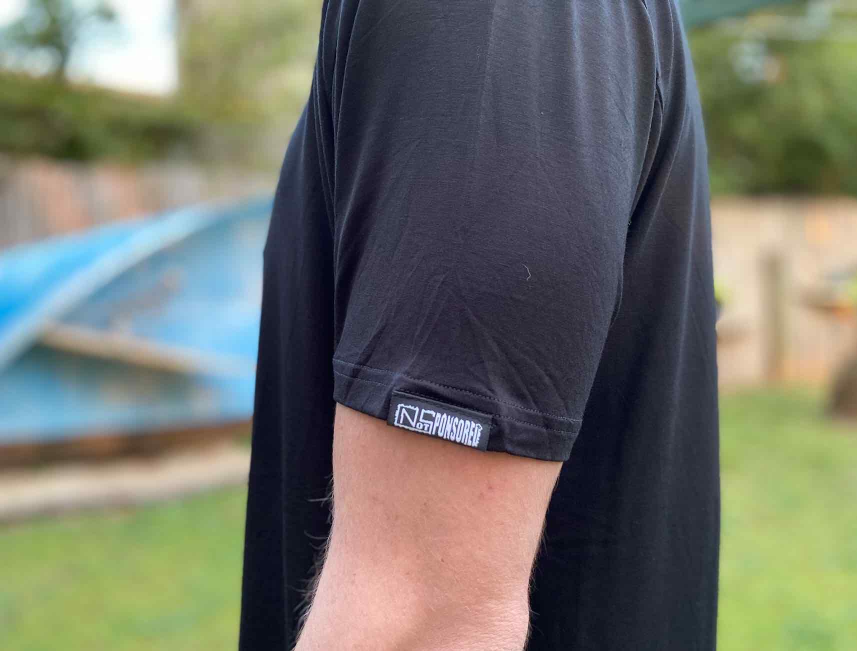 Mens Get Board BLACK Bamboo T Shirt