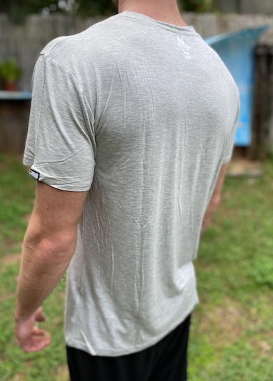 Mens Pumped Grey Bamboo Tee Shirt