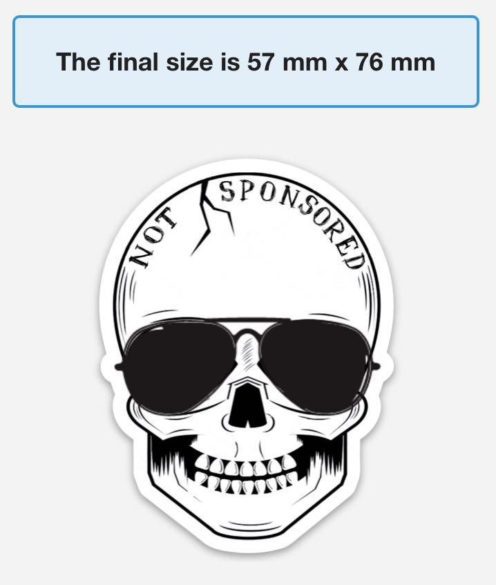 Stickers Not Sponsored Logo Shakas Skulls