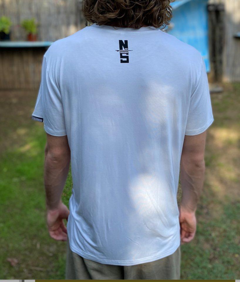 Mens Get Board WHITE Bamboo Tshirt